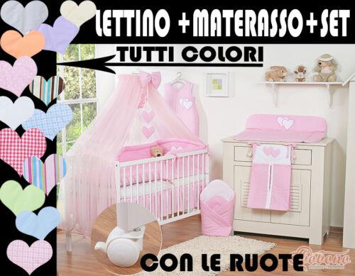 LETTINO BIMBO CULLA NEONATO+set 11pezzi tutto completo offerta prezzo piu basso