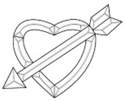 Stained Glass Supplies Celtic Heart Bevel Cluster EC828