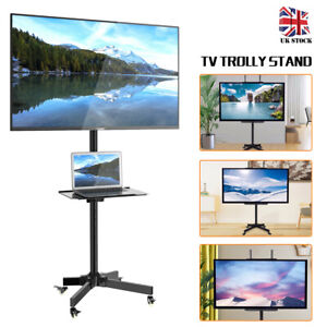 Mobile Tv.Details About Home Mobile Tv Stand Floor Trolley Display Cart Mount For 23 55 Plasma Lcd Led