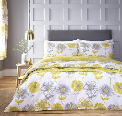 CATHERINE LANSFIELD,BANBURY YELLOW FLORAL,DUVET-QUILT COVER SETS-BEDDING SET