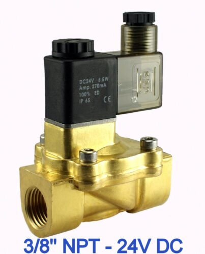"""3//8/"""" Inch Electric Air Water Power Save Solenoid Valve Normally Closed 24V DC"""