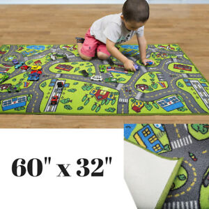 Race Car Track Rug Play Mat For Toddlers Kids Carpet Road Toy Track