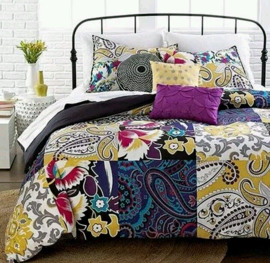 New Idea Novua Republic Sunshine Patchwork Full Duvet Set Fits 76 X 86