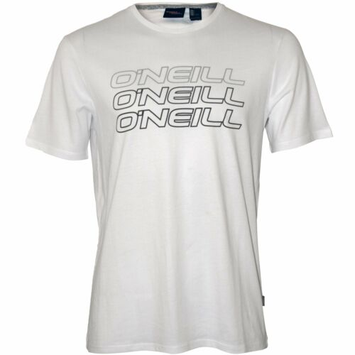 O/'Neill Triple Logo Crew-Neck Men/'s T-Shirt Super White