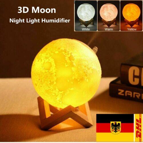 3D Mond LED Licht Lampe Ultraschall Luftbefeuchter Aroma Diffuser Diffusor 880ML