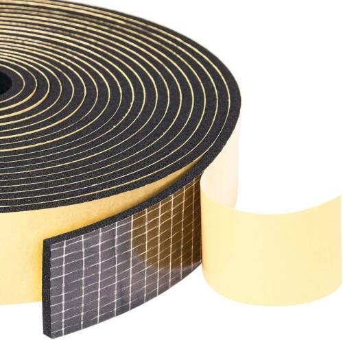 "Adhesive Weather Stripping 2 Rolls 1/"" W X 1//8/"" T Neoprene Foam Weatherstrip Tap"