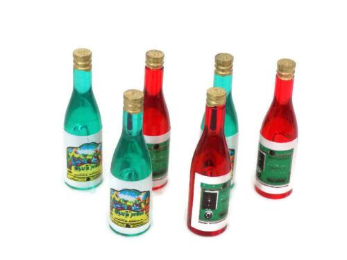 Dolls House miniatura in resina Bottiglie di Vino-Accessori-Scala 1:12