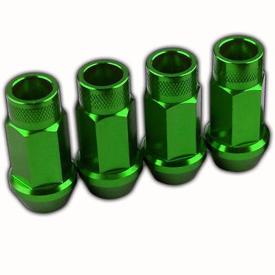 16 PC GREEN STEEL CLOSED-END LOCKING HEPTAGON LUG NUTS WHEELS//RIMS 12X1.5 D