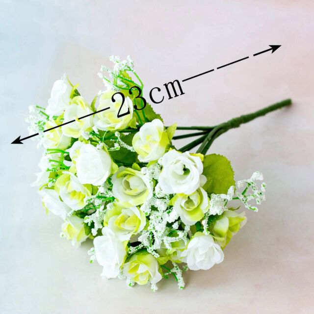 60pcs Pure White Open Rose England Roses Silk Flower Heads Wire Silk Flowers for DIY Wedding Bouquet backdrop home deco nursery FH03 12pcs