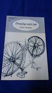Vintage-1981-Art-Book-DRAWING-WITH-INK-John-Brobbel