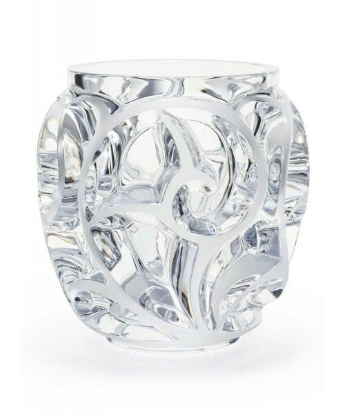 Lalique Clear Tourbillons Vase Reverse 8in Ebay