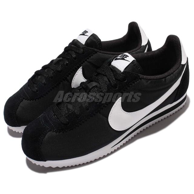 6bfff98c3a889 Nike Classic Cortez Nylon Black White Men Shoes Lifestyle Sneakers 807472- 011