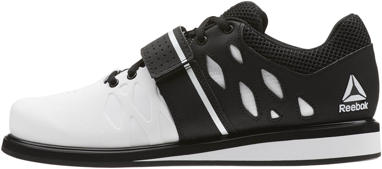 Reebok Lifter PR Mens Weightlifting shoes White Bodybuilding Boots Gym Training