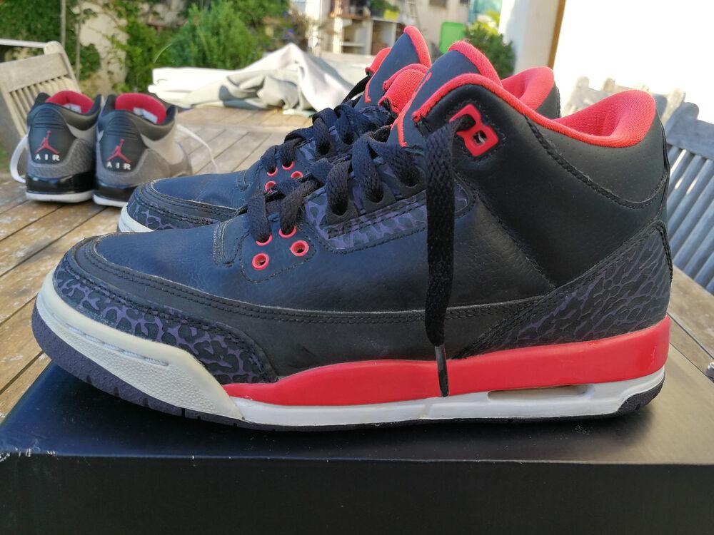 nike air jordan 3 retro bright taille crimson gs grade school taille bright 37.5 Chaussures de sport pour hommes et femmes f73d2c