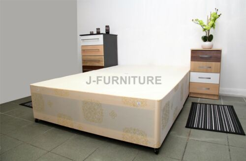 5ft Kingsize Bed With 10/'/' Firm Orthopedic Mattress+Base In 3 Colors NEW DEAL