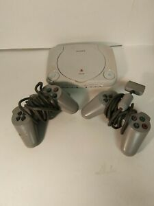 Sony Playstation PS One PS1 Video Game Console SCPH-101 for parts broken lid