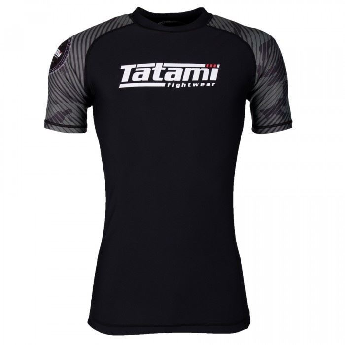 Tatami Renegade verde BJJ Rash Guard uomini Short Sleeve Jiu Jitsu Compression Top