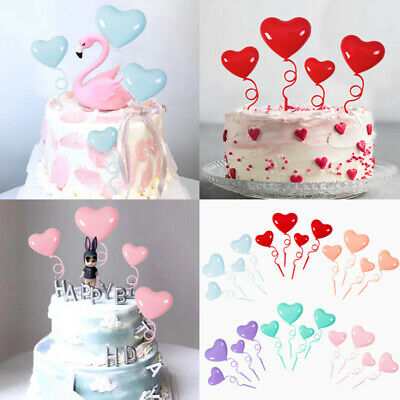 Pleasant 40Pcs Heart Shape Balloon Birthday Cake Topper Ornament For Funny Birthday Cards Online Inifofree Goldxyz