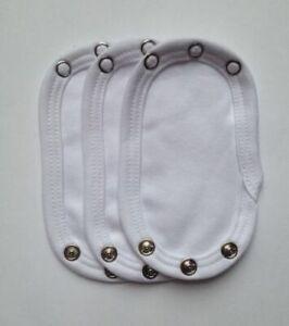 Vest Extender 100/% Cotton 13 x 9 cm White BZ2 3 PCS New Baby Bodysuit