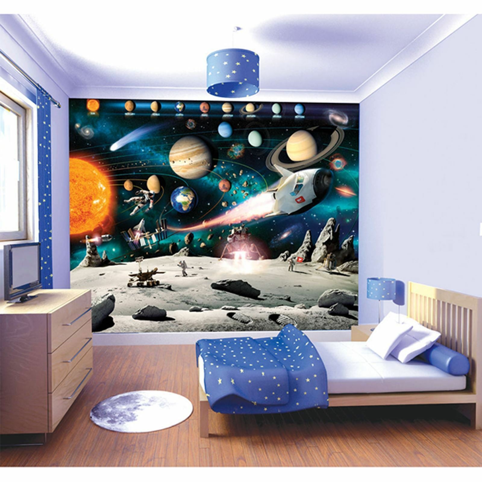 WALLTASTIC SPACE ADVENTURE WALL MURAL 2.44m x 3.05m NEW ROOM DECOR