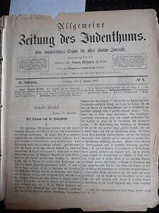Bien 1877 Juifs 43-afficher Le Titre D'origine