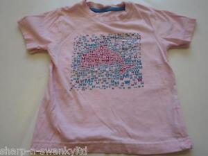 ed82b2db4 ☆ Girls Pink Whale Print 100% Cotton Short Sleeved T-Shirt Top Age ...