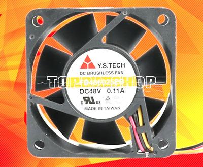 Y.S.TECH 6025 FD486025EB 48V 0.11A 3Wire Cooling Fan
