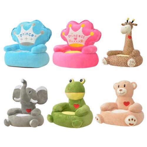 vidaXL Chaise Fauteuil Siège pour enfants bébés en peluche Multicolore