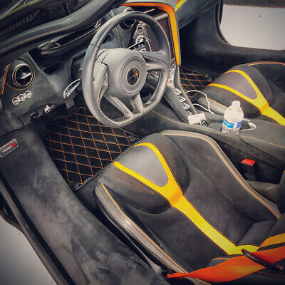 2017 2019 McLaren 570S//650S Black with Red Edging Driver /& Passenger Floor GGBAILEY D51534-F1A-BLK/_BR Custom Fit Car Mats for 2015 2018 2016