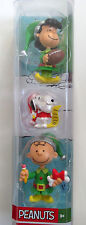 """Peanuts Lucy Snoopy Charlie Brown Holiday 3"""" Figures Toys 2016 New in Package"""