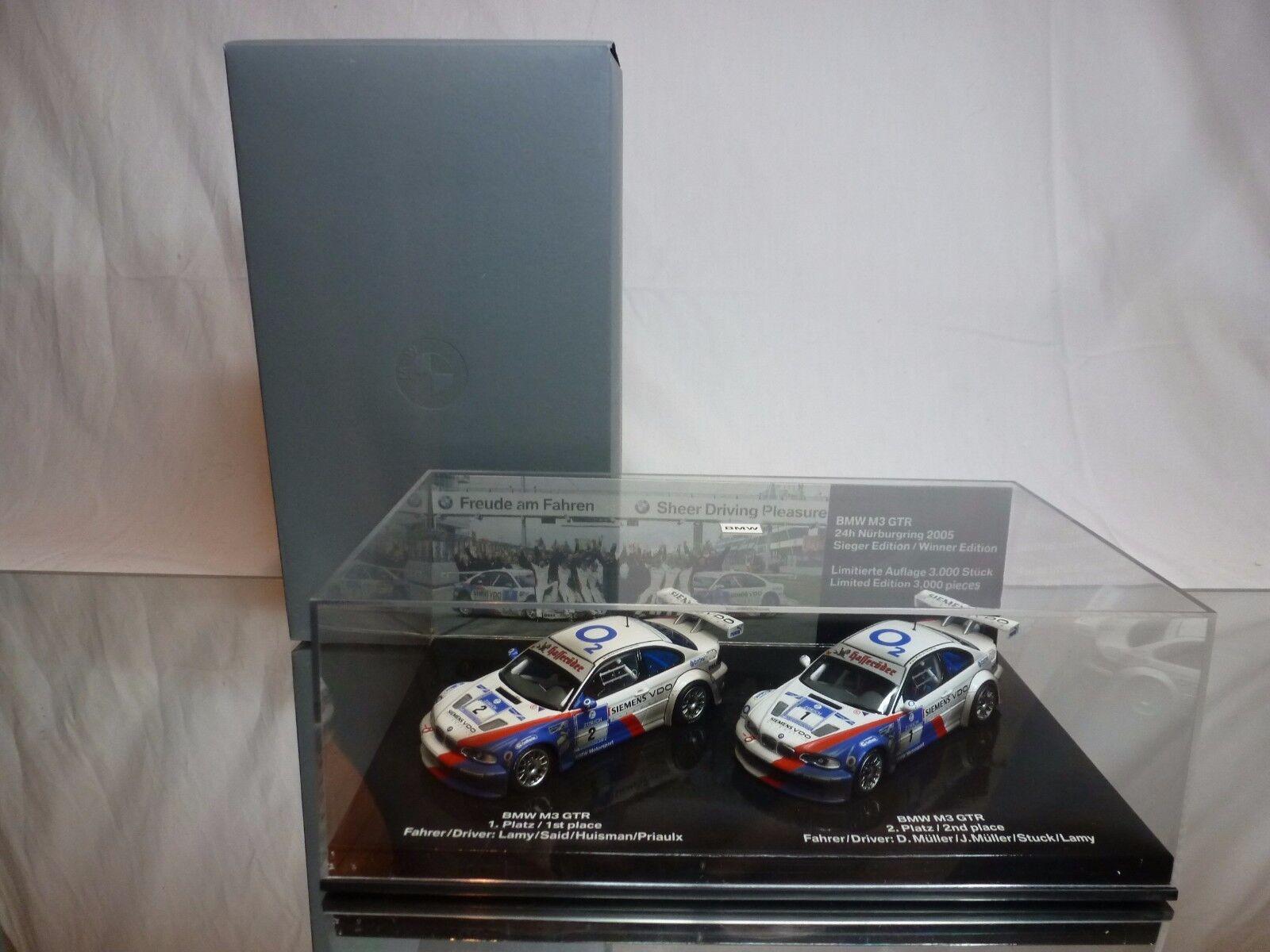 Mejor precio MINICHAMPS MINICHAMPS MINICHAMPS BMW 2x M3 GTR 24h NURBURGRING 2005 - 1 43 VERY RARE - EXCELLENT  a la venta