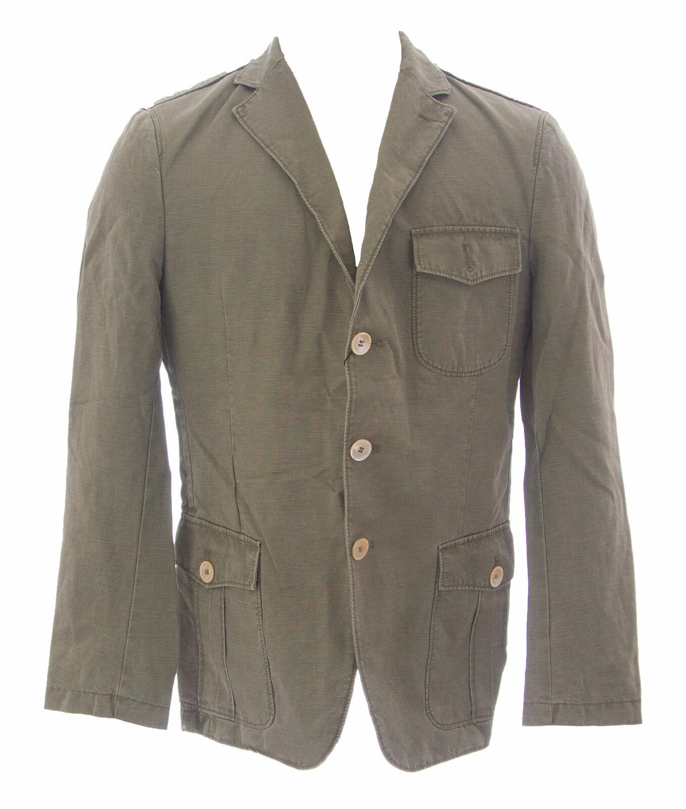 Gant Men's Olive Green Three Button Utility Blazer 76706 Size 50  NEW