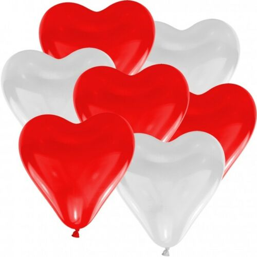 Herz Luftballons Ø 30 cm Farbe /& Stückzahl frei wählbar Herzballons Luftballon