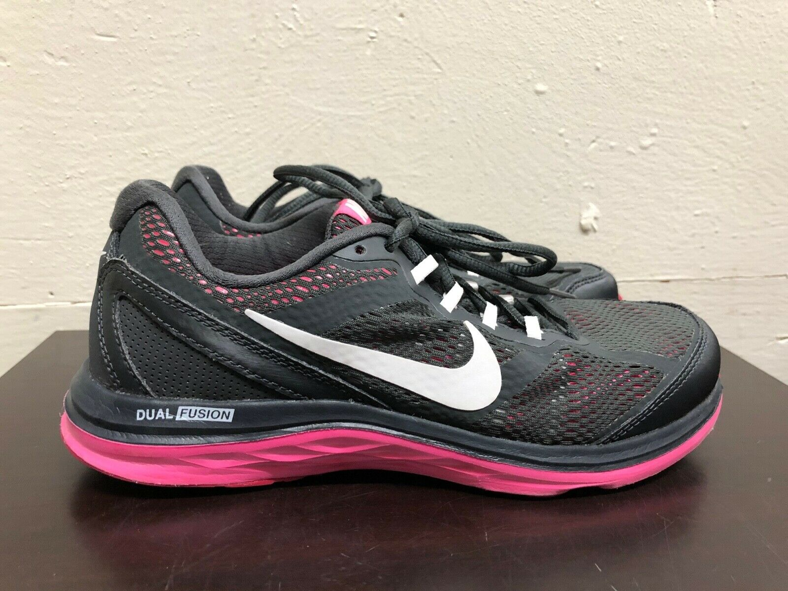 Anestésico morfina café  Nike Dual Fusion Run 3 Running Shoes Pink/Black Women Size US 7.5 653594  003 for sale online