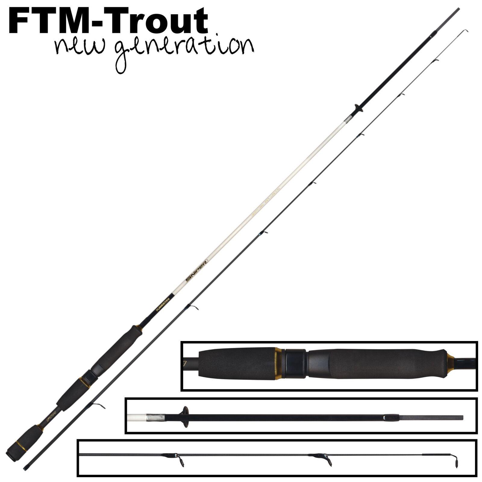 FTM Sniper 198cm 1 5-5 5g - Ultra Light Spinnrute für Spoon Forellenblinker