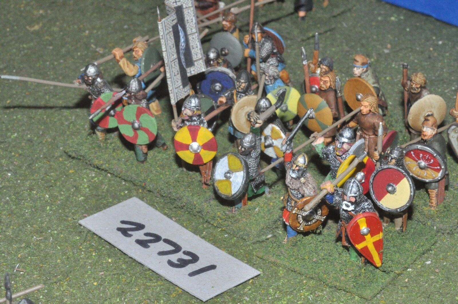 25mm dark ages   anglo saxon - spearmen 24 figs inf - inf (22731)