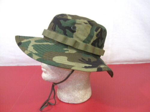MINT Unissued Vietnam US Army ERDL Camouflage Ripstop Boonie Hat Size 7