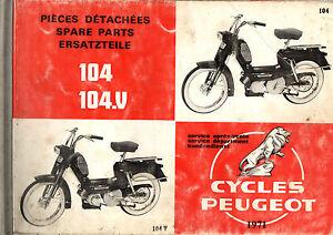 Catalogue-pieces-detachee-PEUGEOT-104-V-mobylette