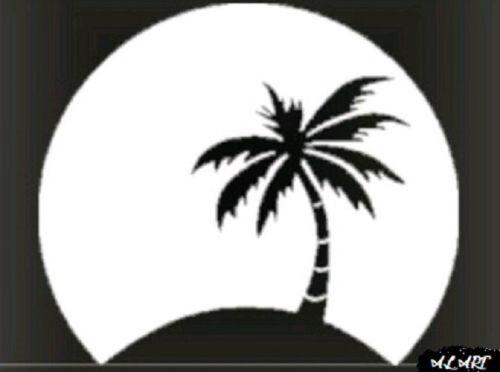 Sticker for Car Truck Bumper Wall Window Laptop PALM TREE MOON Vinyl Decal
