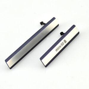 0893495eff00 For Sony Xperia Z2 D6503 Micro SD + USB Sim Card Port Dust Plug ...