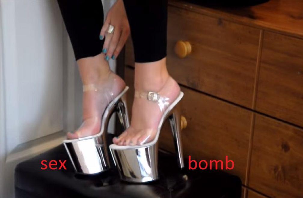 SEXY sandali tacco tacco tacco 19 dal 35 al 42 TRASPARENTE plata CROMATO plateau GLAMOUR  autorización oficial