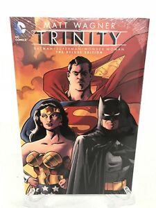 Trinity-Deluxe-Edition-Batman-Superman-Wonder-DC-Comics-HC-Hard-Cover-New-Sealed