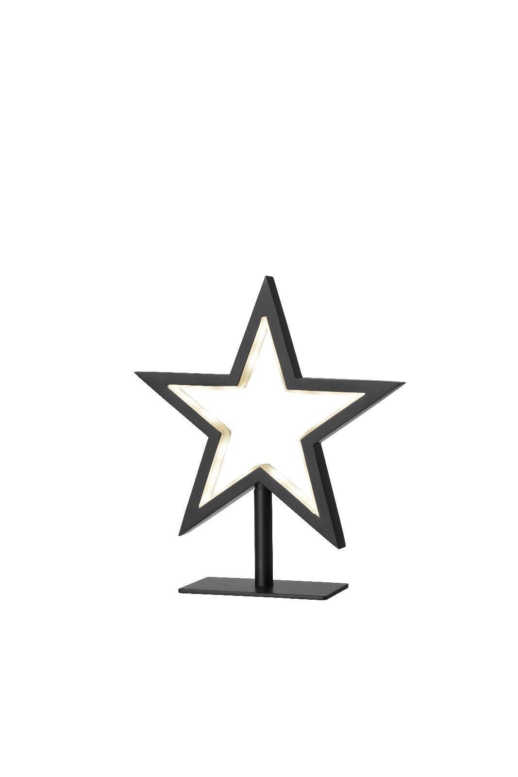 72149 Sompex Lampe de table Lucy-S, Chrome 20 cm Lampe Noir étoile pour poser