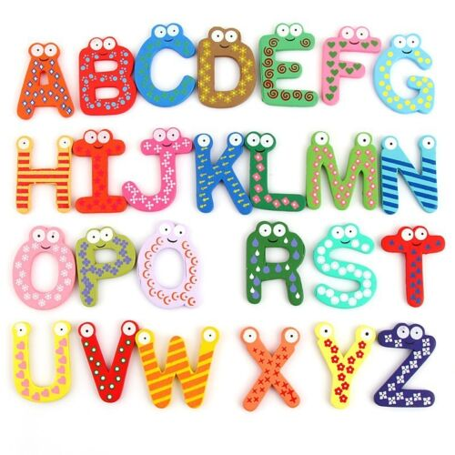 Holz Nette Kühlschrankmagnet-Alphabet Tier Anzahl Frühe Pädagogische Kinder Baby