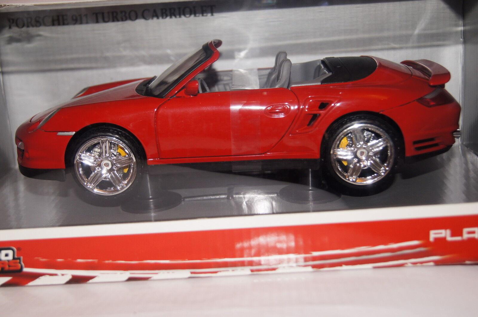 Porsche Porsche Porsche 911 turbo cabrio rojo 1 18 Mondo nuevo & OVP b16d95