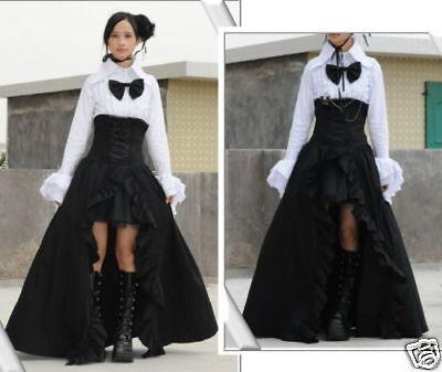 Visual Punk Gothic NANA Long Skirt+underskirt S046