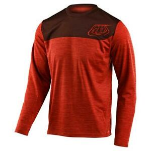 Troy-Lee-Designs-Flowline-Long-Sleeve-Jersey-Heather-Tangerine-Dark-Slate-Large