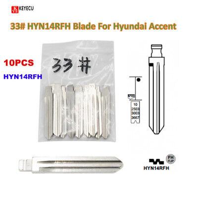 10*Flip Blade 33# for KD Remote, HYN14RFH NO.33 Key Blade For Hyundai Accent Kia
