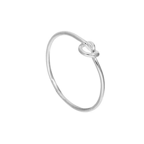 Sterlingsilber Herzknoten Ring Größen 49-64