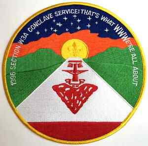 Boy-Scout-W3A-Order-of-the-Arrow-1996-OA-Conclave-Jacket-Patch-Badge-BSA-Award